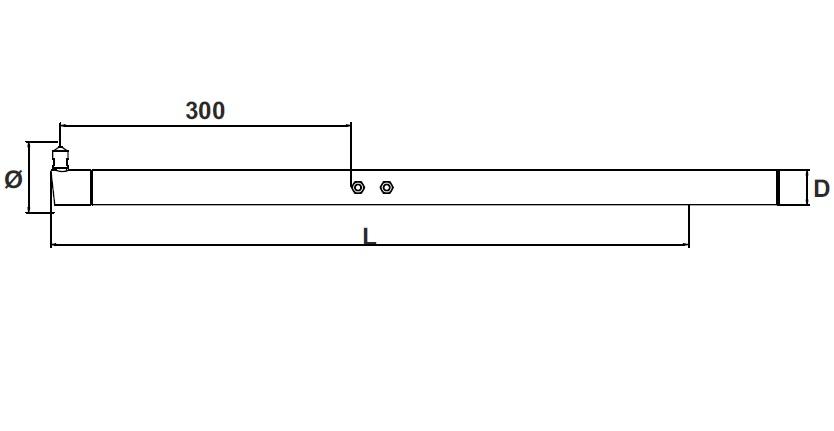 Нижнее плечо TECNA 4567 для стационарных сварочных машин TECNA 4605, 4606, 4610, 4611,4643, 4644, 4648, 4649