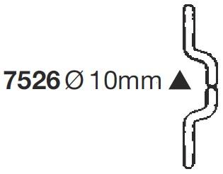 Изогнутый электрод 10мм TECNA 7526