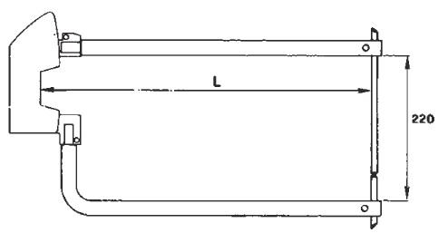 Комплект плеч 500мм с электродами 12мм TECNA 7407