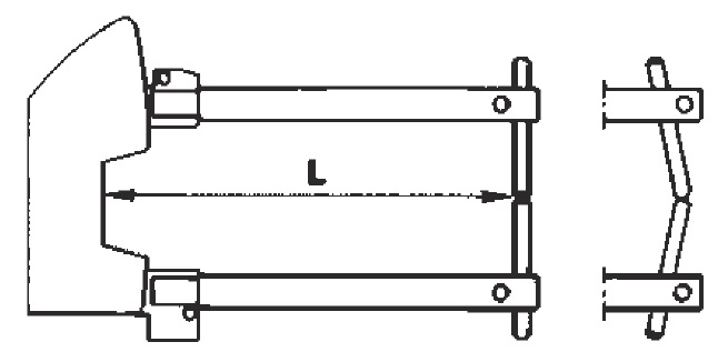 Комплект плеч 125мм TECNA 7501