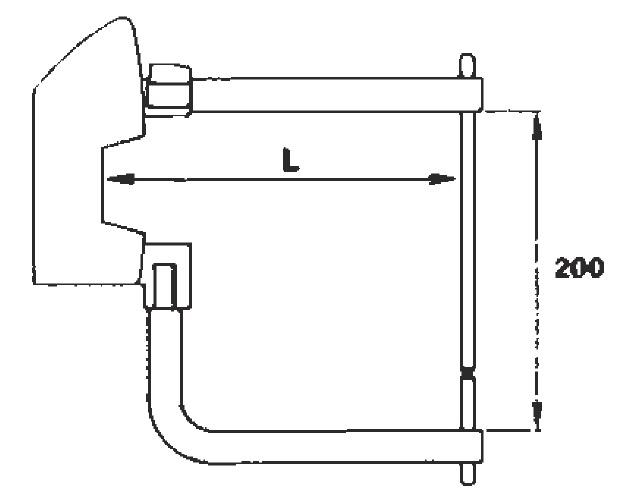 Комплект плеч 125мм с электродами 10мм TECNA 7511