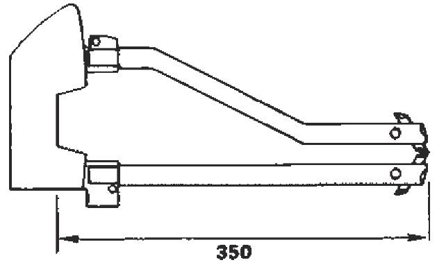Комплект плеч 350мм с электродами 10мм - TECNA 7507