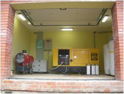 Монтаж агрегата в закрытом помещении