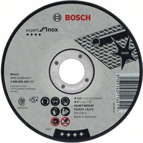 Круг отрезной BOSCH Best for Inox Rapido Long Life 2.608.602.221