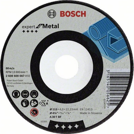 Круг зачистной Bosch Expert for Metal 115x6x22 (2.608.600.218)