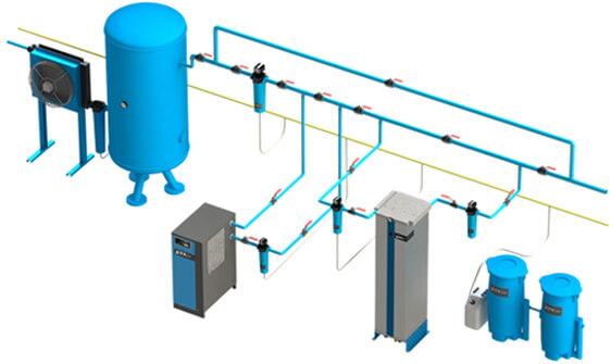подготовка сжатого воздуха схема